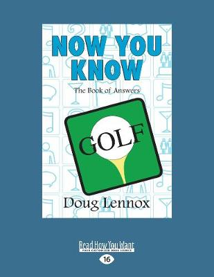 Now You Know Golf (Paperback)