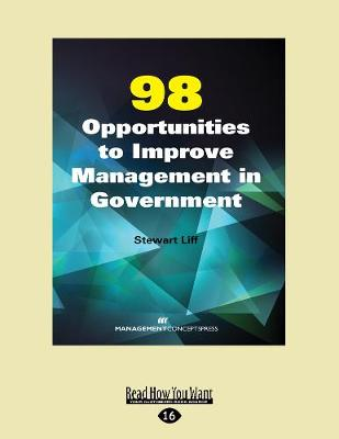 98 Opportunities to Improve Management in Government (Paperback)