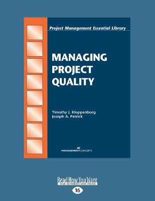 Managing Project Quality (Paperback)