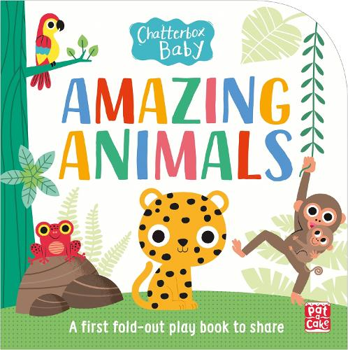 Chatterbox Baby: Amazing Animals: Fold-out tummy time book - Chatterbox Baby (Board book)