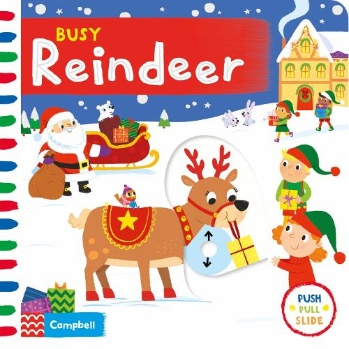 Busy Reindeer - Busy Books (Board book)