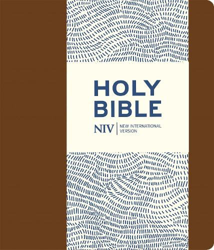 NIV Journalling Brown Imitation Leather Bible with Clasp - New International Version (Paperback)