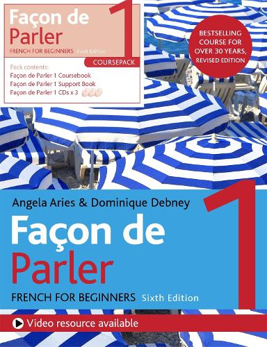 Facon de Parler 1 French Beginner's course 6th edition: Course pack