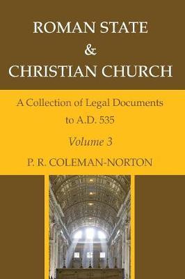 Roman State & Christian Church Volume 3 (Paperback)