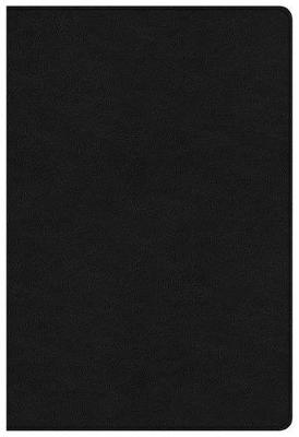 NKJV Large Print Ultrathin Reference Bible Black Letter Edition, Premium Black Genuine Leather (Leather / fine binding)