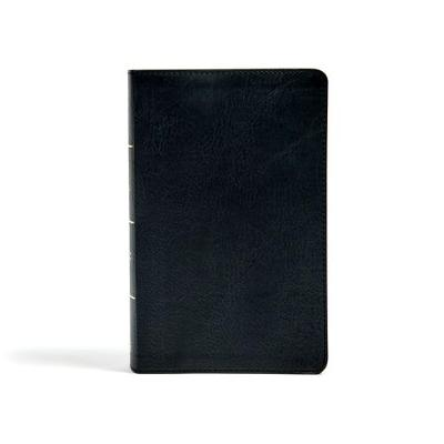 CSB Single-Column Personal Size Bible, Black LeatherTouch (Leather / fine binding)
