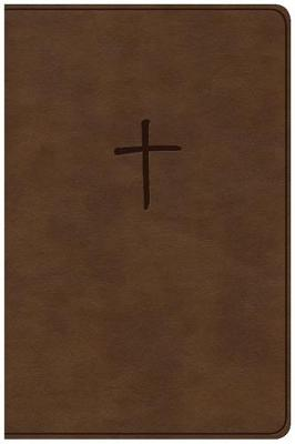 CSB Compact Bible, Brown LeatherTouch, Value Edition (Leather / fine binding)