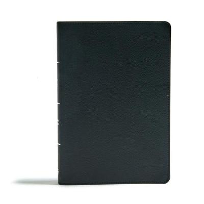 CSB Giant Print Reference Bible, Black Genuine Leather (Leather / fine binding)