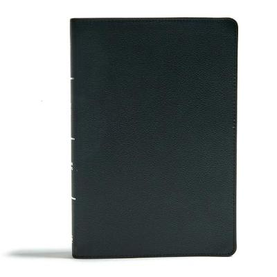CSB Super Giant Print Reference Bible, Black Genuine Leather (Leather / fine binding)