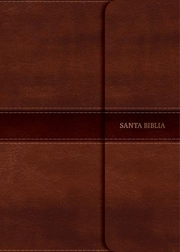 NVI Biblia Compacta Letra Grande marron, simil piel con indice y solapa con iman (Leather / fine binding)