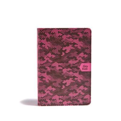 CSB On-the-Go Bible, Pink Camouflage (Leather / fine binding)