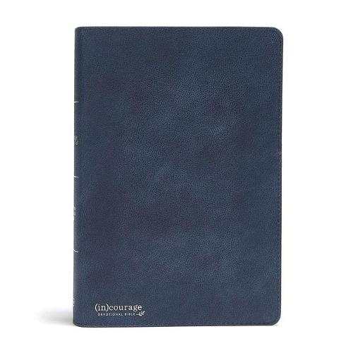 CSB (in)courage Devotional Bible, Navy Genuine Leather (Leather / fine binding)
