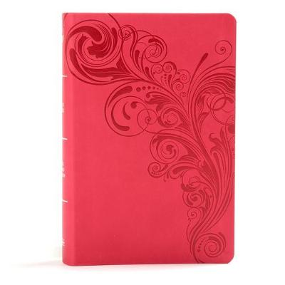 KJV Large Print Personal Size Reference Bible, Pink Leathertouch (Leather / fine binding)