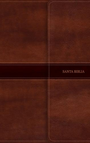 RVR 1960 Biblia Ultrafina, marron simil piel con indice y solapa con iman (Leather / fine binding)