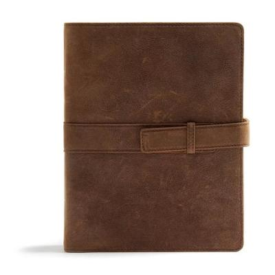 CSB Legacy Notetaking Bible, Tan Genuine Leather with Strap (Leather / fine binding)