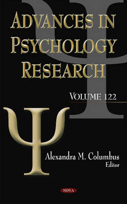 Advances in Psychology Research: Volume 122 (Hardback)
