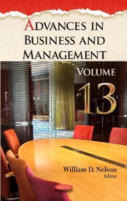 Advances in Business & Management: Volume 13 (Hardback)