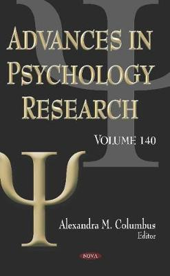 Advances in Psychology Research: Volume 140 (Hardback)