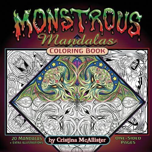Monstrous Mandalas Coloring Book (Paperback)