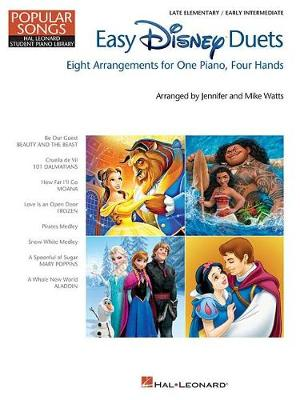 Easy Disney Duets: Eight Arrangements For One Piano, Four Hands (Paperback)