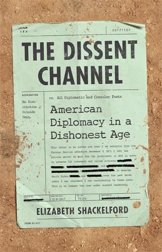 The Dissent Channel: American Diplomacy in a Dishonest Age (Hardback)