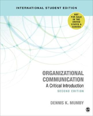 Organizational Communication: A Critical Introduction (Paperback)