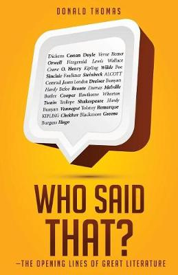 Who Said That?: The Opening Lines of Great Literature (Paperback)