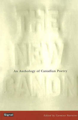 The New Canon: An Anthology of Canadian Poetry (Paperback)