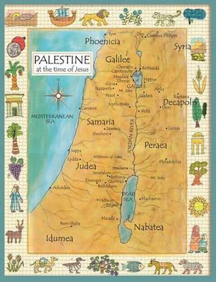 Palestine in the Time of Jesus Map (Poster)