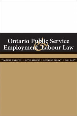 Ontario Public Service Employment and Labour Law (Paperback)