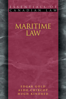 Maritime Law - Essentials of Canadian Law (Paperback)