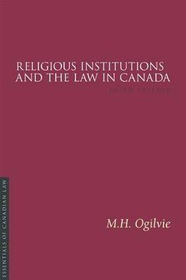 Religious Institutions and the Law in Canada (Paperback)