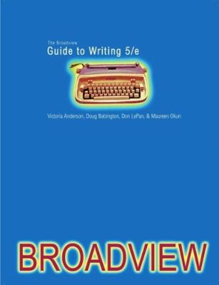The Broadview Guide to Writing (Paperback)