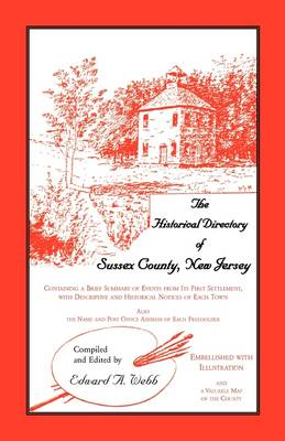 The Historical Directory of Sussex County, New Jersey (Paperback)