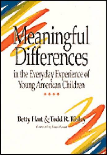 Meaningful Differences in the Everyday Experience of Young American Children (Hardback)