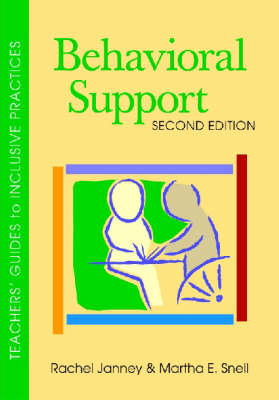 Behavioral Support - Teachers' Guides to Inclusive Practices (Paperback)