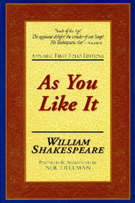 As You Like it - Applause First Folio Editions (Paperback)