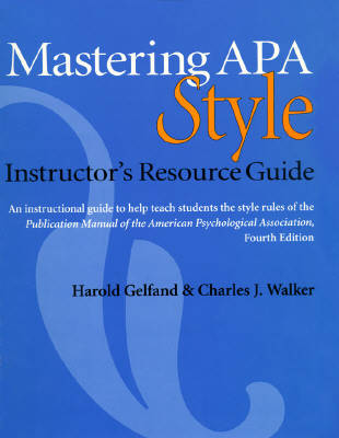 apa style guide book