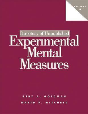 Directory of Unpublished Experimental Mental Measures: v. 8 (Paperback)