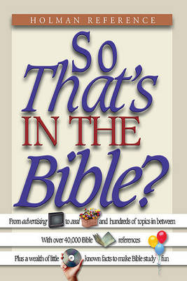 So That's in the Bible? (Paperback)