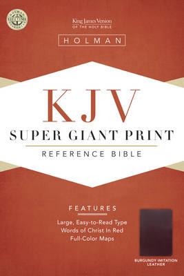 KJV Super Giant Print Reference Bible, Burgundy Simulated Leather (Leather / fine binding)