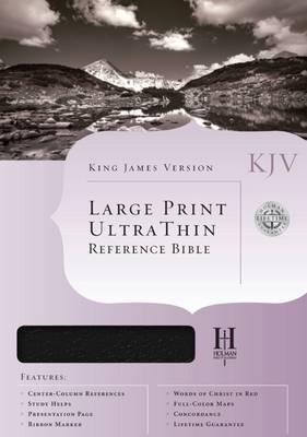 Bible Kjv U/thin Large Print Reference Black T/I (Book)