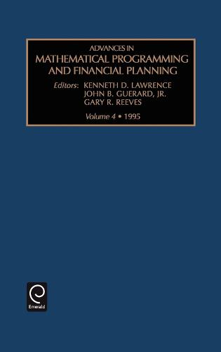 Advances in Mathematical Programming and financial planning - Advances in Mathematical Programming and Financial Planning 4 (Hardback)