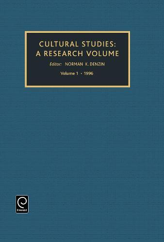 Cultural Studies: A Research Annual - Cultural Studies 1 (Hardback)