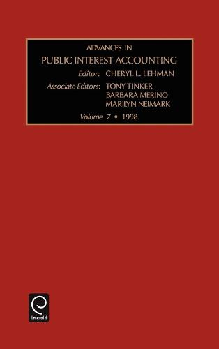 Advances in Public Interest Accounting - Advances in Public Interest Accounting 7 (Hardback)