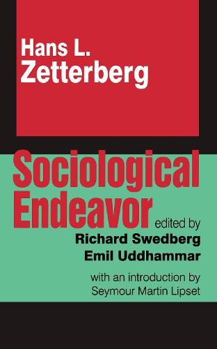 Sociological Endeavor (Hardback)