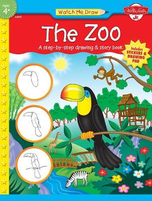 The Zoo: A Step-by-Step Drawing & Story Book (Paperback)