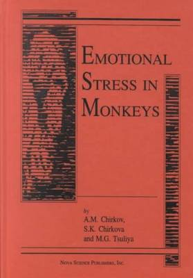 Emotional Stress in Monkeys (Hardback)