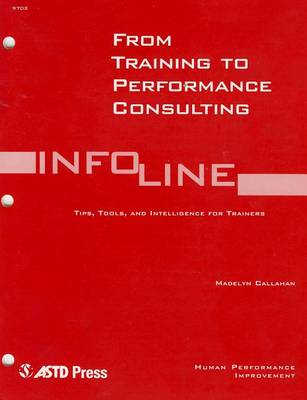 From Training To Performance Consulting (Paperback)