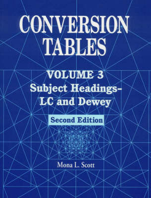 Conversion Tables: Subject Headings-LC and Dewey v. 3 (Paperback)